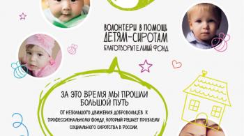 Заставка для - Фонду «Волонтеры в помощь детям-сиротам» 10 лет!